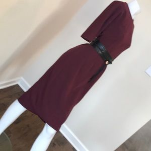 5b945829aab8d Ted Baker London Dresses - Lemar Belt Detail Dress Dark Red